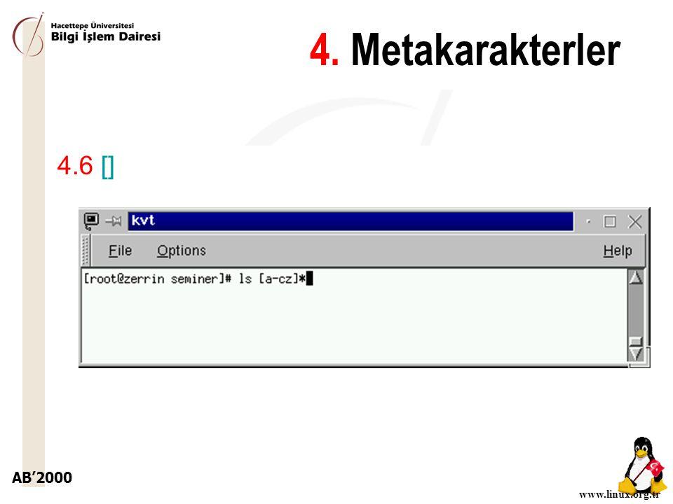4. Metakarakterler 4.6 []